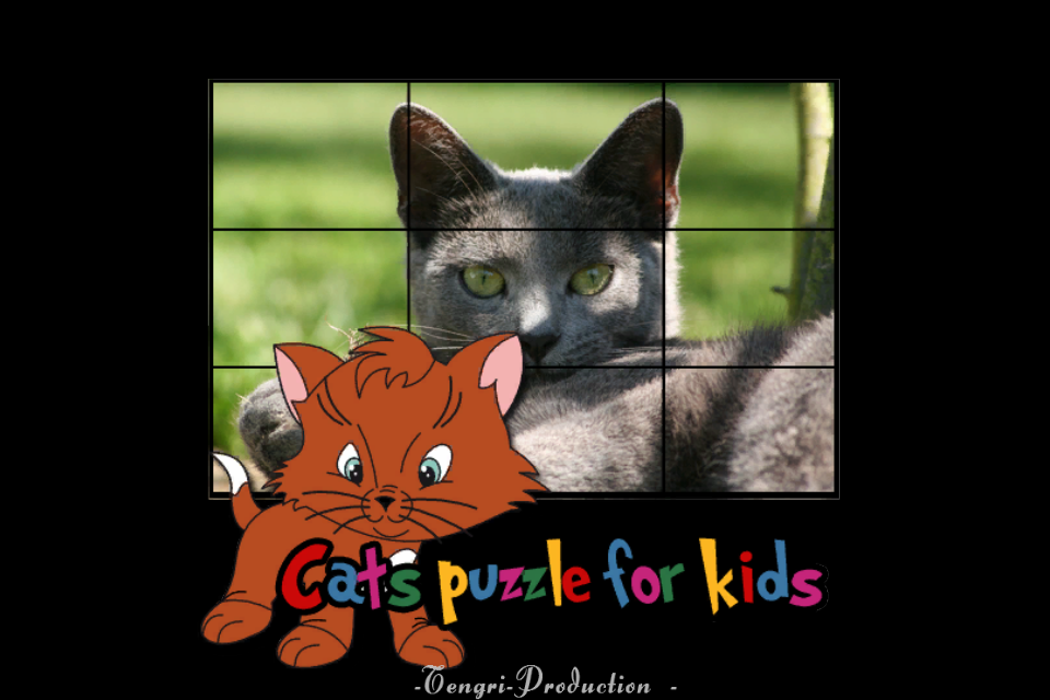 Screenshot cats puzzles for children